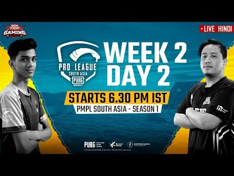 [Hindi] PMPL South Asia 2020 LIVE | PUBG Mobile Pro League 2020 LIVE STREAMING Week 2 Day 2