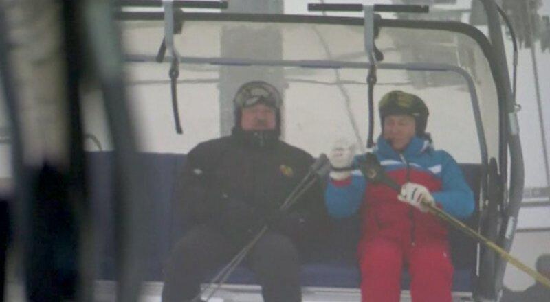 Putin ve Lukaşenko önce görüştü, sonra karın keyfini çıkardı
